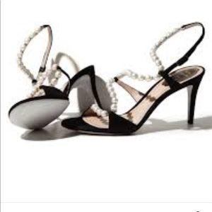 Rene Caovilla White Twisting strap Pearl Sandal